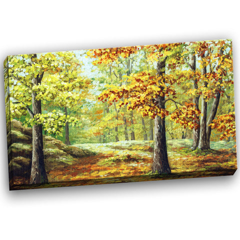 autumn wood landscape canvas art print PT6149