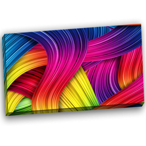 3d rainbow art abstract canvas artwork PT6157