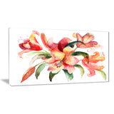 lily flowers watercolor illustration floral canvas art print PT6160