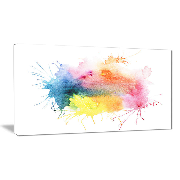abstract blots aquarelle art abstract canvas print PT6162