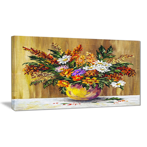 wild flowers in a pot floral canvas artwork PT6163