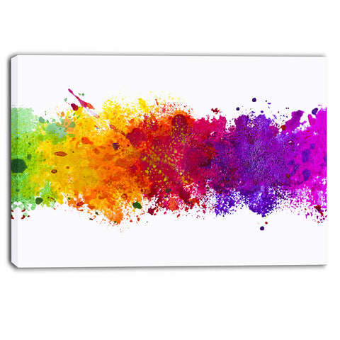 artistic watercolor splash abstract canvas artwork PT6164