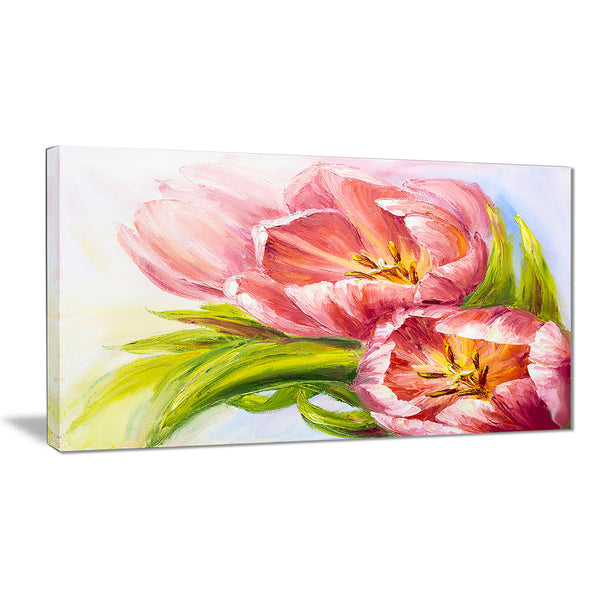 Tulips Flowers Floral Canvas Art Print
