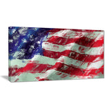 usa flag abstract art map & flag canvas art print PT6179