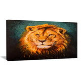 the lion of judah animal canvas art print PT6190