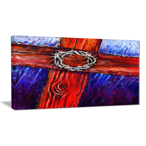 crown of thorns abstract canvas artwork PT6193
