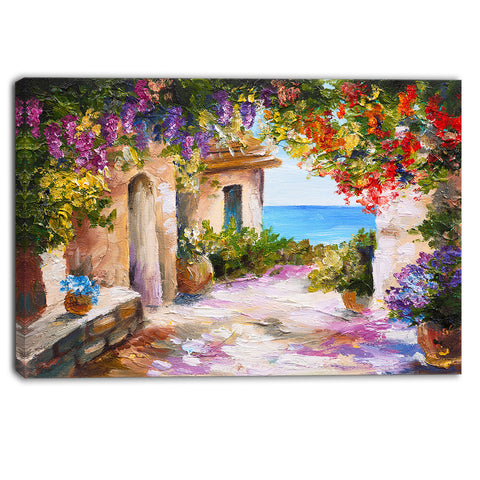 summer seascape landscape canvas art print PT6195