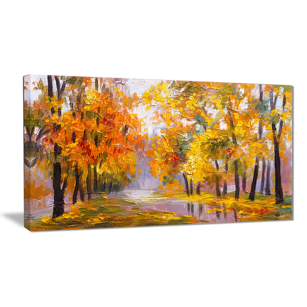 full of fallen leaves landscape canvas artwork PT6202