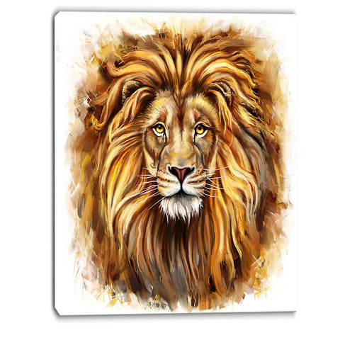 angry king of forest animal canvas art print PT6206