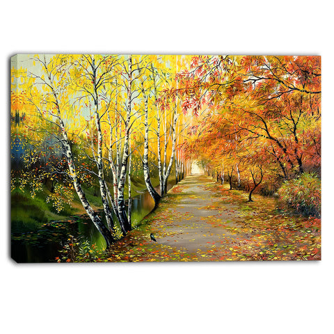 beautiful fall forest landscape canvas art print PT6211