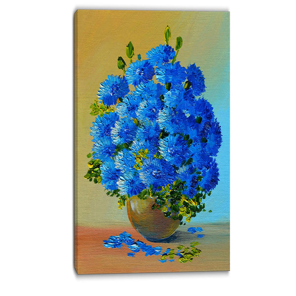a bouquet of blue flowers floral canvas art print PT6218
