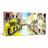 canal in venice cityscape canvas artwork PT6220