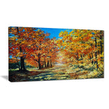 bright day in autumn forest landscape canvas artwork PT6227