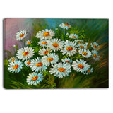 heavily textured daisies art floral canvas print PT6239