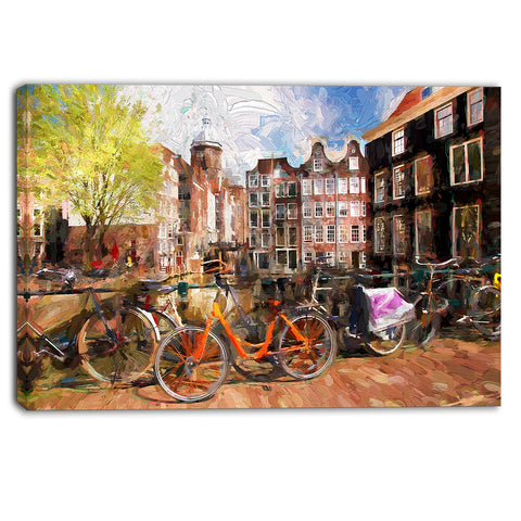 amsterdam city artwork landscape large canvas print PT6244
