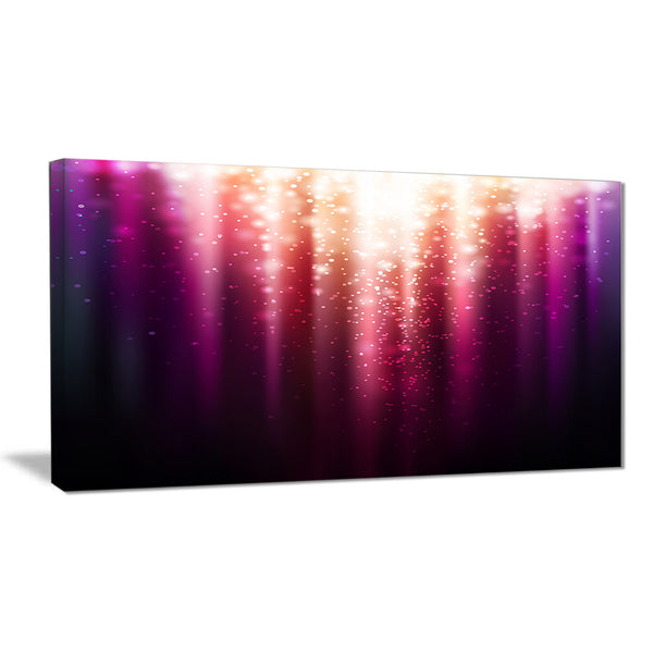 purple with magic light abstract canvas artwork PT6254