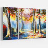 colorful spring forest landscape canvas art print PT6255