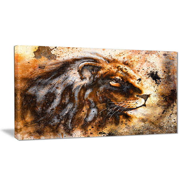 lion collage animal canvas art print PT6256