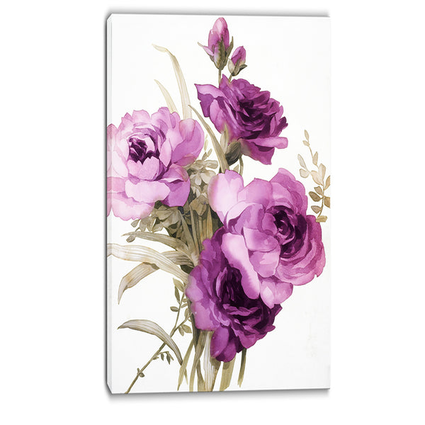 bunch of purple flowers floral canvas art print PT6258