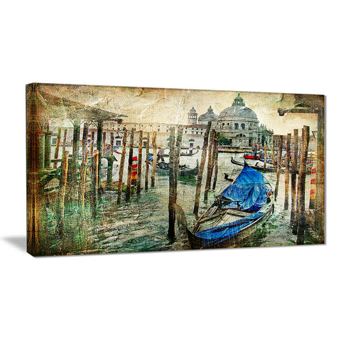 Beautiful Venice Landscape Canvas Art Print