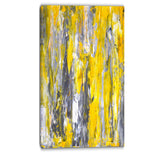 grey and yellow abstract pattern abstract canvas print PT6268