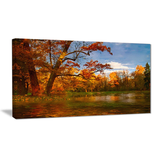 quiet and silent autumn landscape canvas art print PT6274