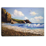 sea with seagull landscape canvas artwork PT6281