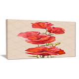 bunch of poppies vector art floral canvas print PT6290