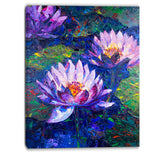 blue lotus oil painting floral canvas print PT6292