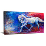 blue horse animal canvas art print PT6302