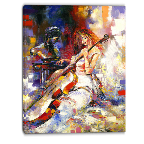 the guitarists music canvas art print PT6304