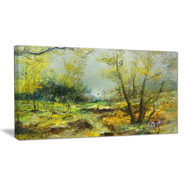 green yellow forest landscape canvas print PT6306