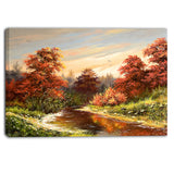 the red river landscape canvas art print PT6307