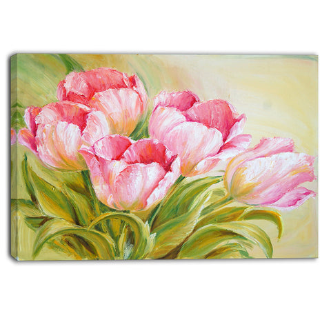 bunch of tulips oil painting floral canvas print PT6312