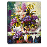 lilac bouquet in a vase floral canvas art print PT6318