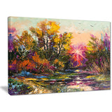 Farewell to Autumn Landscape Canvas Print