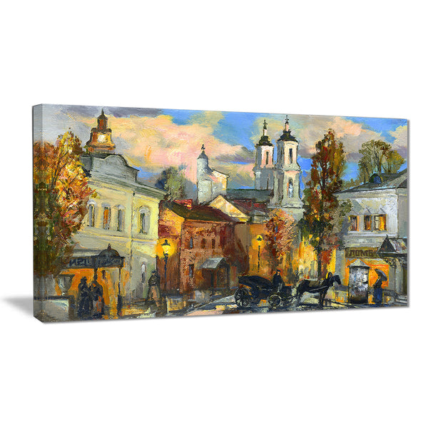 old city cityscape canvas art print PT6327