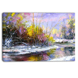 autumn river landscape canvas art print PT6329