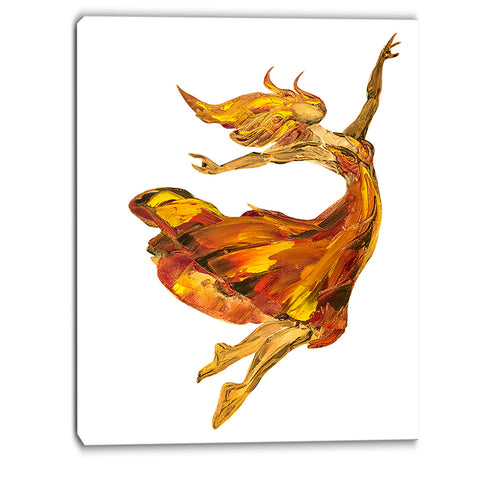 fire ballerina portrait canvas art print PT6335