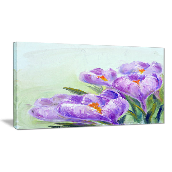 crocuses looking into sky floral canvas print PT6338