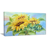 three sunflowers floral canvas art print PT6339