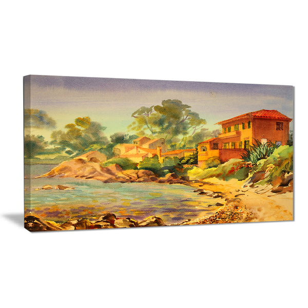 french riviera landscape canvas art print PT6351