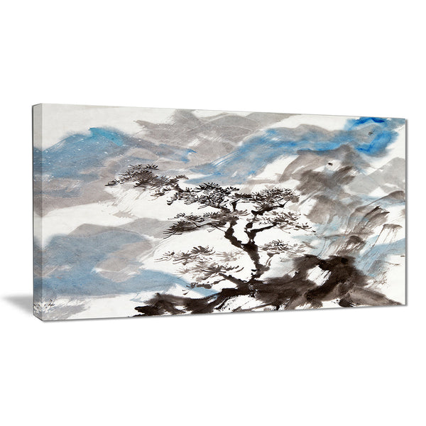 chinese pine tree trees canvas art print PT6352