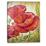 poppies in wheat floral canvas art print PT6381