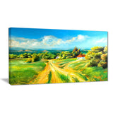 color of summer landscape canvas art print PT6385