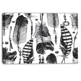 hand drawn feathers canvas artwork PT6386