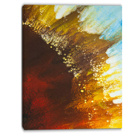 blow of brown abstract canvas art print PT6387