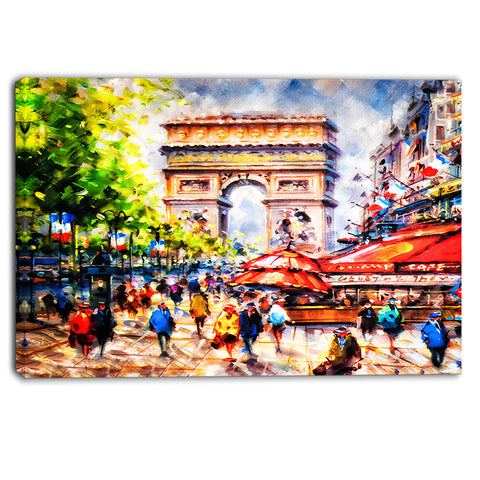 arc d' triomphe paris cityscape canvas print PT6389