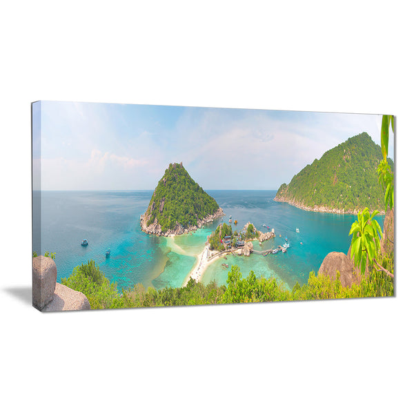 tropical island panorama landscape photo canvas print PT6407