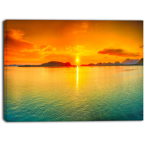 sunset panorama photography canvas art print PT6408